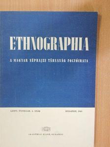 Balázs Árpád - Ethnographia 1965/4. [antikvár]