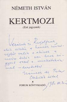 Németh István - Kertmozi (dedikált) [antikvár]