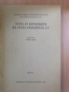 Bartók János - Nyelvi rendszer és nyelvhasználat [antikvár]