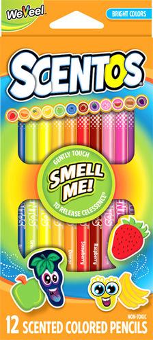 Scentos Illatos színes ceruza 12 db - Élénk színek