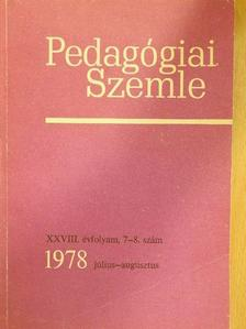 Csiby Sándor - Pedagógiai Szemle 1978. július-augusztus [antikvár]