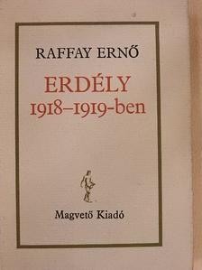 Raffay Ernő - Erdély 1918-1919-ben [antikvár]