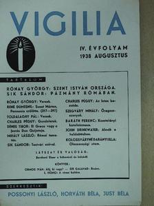 Baráth Ferenc - Vigilia 1938. augusztus [antikvár]