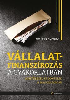 WALTER GY - Vállalatfinanszírozás a gyakorlatban - Lehetőségek és döntések a magyar piacon
