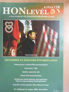Bakk István - Honlevél 2006. december [antikvár]