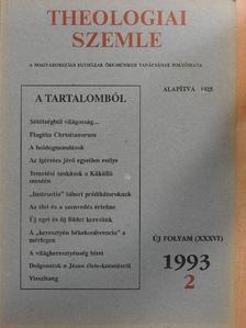 Adamik Tamás - Theologiai Szemle 1993/2. [antikvár]