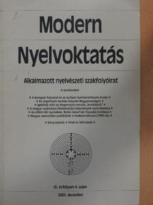 Balázs Géza - Modern Nyelvoktatás 2003/4. [antikvár]