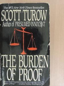Scott Turow - The Burden of Proof [antikvár]