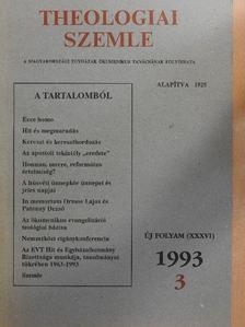 Balla Péter - Theologiai Szemle 1993/3. [antikvár]