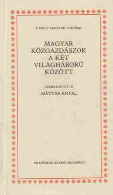 Mátyás Antal - Magyar közgazdászok a két világháború között [antikvár]