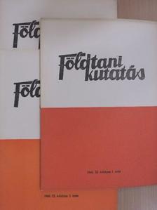 Balkányi Bertalan - Földtani Kutatás 1968/1-4. [antikvár]