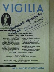 Cserei Szász László - Vigilia 1941. április [antikvár]