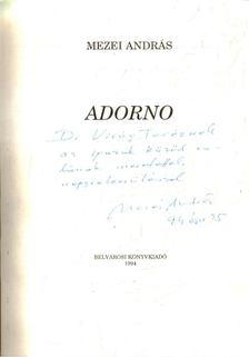 Mezei András - Adorno [antikvár]