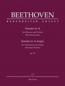 """BEETHOVEN - SONATE IN A FÜR KLAVIER UND VIOLINE """"KREUTZERSONATE"""" OP.47"""