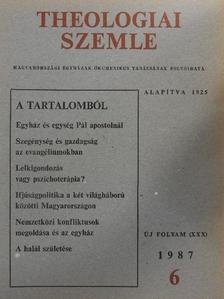 Békési Andor - Theologiai Szemle 1987/6. [antikvár]
