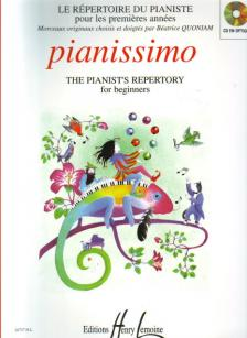 PIANISSIMO, THE PIANIST'S REPERTORY FOR BEGINNERS, SELECTED AND FINGERED BY BÉATRICE QUONIAM