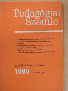Bajkó Mátyás - Pedagógiai Szemle 1986. november [antikvár]