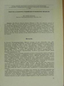 Dr. Tóth Sándor - Tízéves a Bakonyi Természettudományi Múzeum [antikvár]