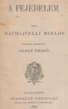 Niccolo Macchiavelli - A fejedelem [antikvár]