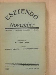 Ady Endre - Esztendő 1918. november [antikvár]