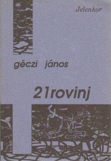 GÉCZI JÁNOS - 21rovinj [antikvár]