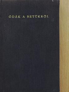 Ady Endre - Ódák a betűkről [antikvár]