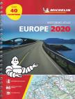 Michelin - Európa atlasz A4 spirál Michelin 2020