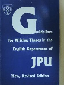 Horváth József - Guidelines for Writing Theses in the English Department of JPU [antikvár]