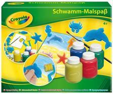 Crayola - Szivacsfestő készlet, 4 tégely temperával