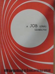 Somogyi József - A JOB leírás szabályai [antikvár]