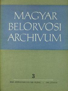 Bajkay Gábor - Magyar Belorvosi Archivum 1969. június [antikvár]