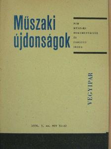 Dr. Rácz Zoltán - Műszaki Újdonságok 1976/3. MUV 31-42. [antikvár]