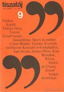 Vörös László - Tiszatáj 1977. szeptember 31. évf. 9. [antikvár]