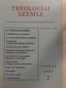 Barcza József - Theologiai Szemle 1987/2. [antikvár]