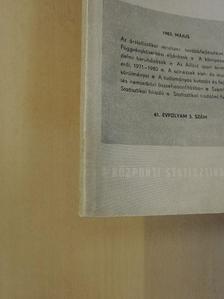 Andorka Rudolf - Statisztikai Szemle 1983. május [antikvár]