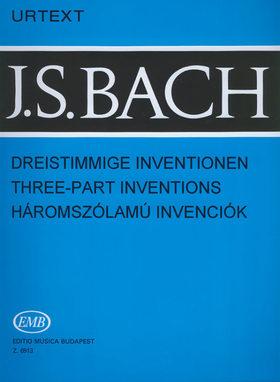 J. S. Bach - HÁROMSZÓLAMÚ INVENCIÓK BWV 787-801 EMB URTEXT (SOLYMOS PÉTER)