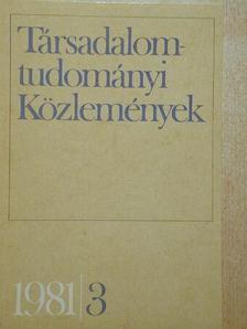 Ágh Attila - Társadalomtudományi Közlemények 1981/3. [antikvár]