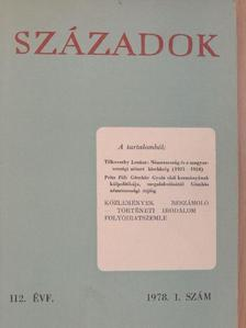 Á. Rényi Zsuzsa - Századok 1978/1. [antikvár]