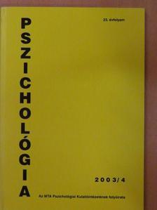 Horváth György - Pszichológia 2003/4. [antikvár]