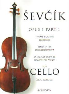 SEVCIK - THUMB PLACING EXERCISES OP.1 PART 1 FOR CELLO (ARR. SCHULZ)