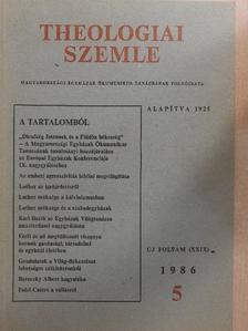 Bertalan Imre - Theologiai Szemle 1986/5. [antikvár]