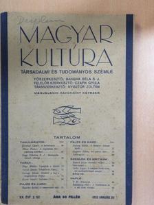 Balásházy Péter - Magyar Kultúra 1933. január 20. [antikvár]
