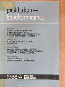 Ágh Attila - Politika-tudomány 1986/4. [antikvár]