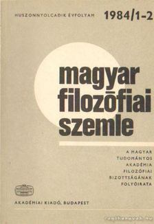 Lendvai L. Ferenc - Magyar filozófiai szemle 1984/1-2. [antikvár]