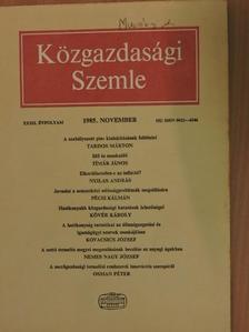 Balogh Tamás - Közgazdasági Szemle 1985. november [antikvár]