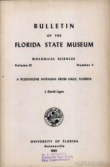 Ligon, J. David - A Pleistocene Avifauna from Haile, Florida [antikvár]