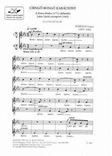 BÁRDOS LAJOS - CSENGŐ-BONGÓ KARÁCSONY EGYNEMŰKARRA,A KONCZ-KÓDEX (1771) DALLAMÁRA