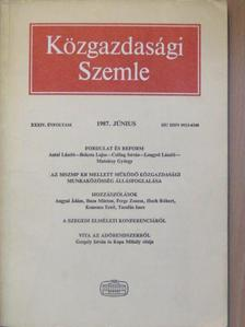Angyal Ádám - Közgazdasági Szemle 1987. június [antikvár]