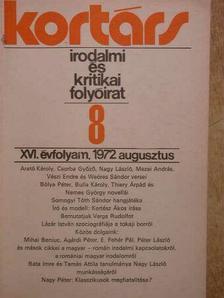Ágh István - Kortárs 1972. augusztus [antikvár]
