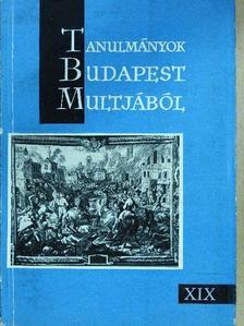 Bácskai Vera - Tanulmányok Budapest múltjából XIX. [antikvár]